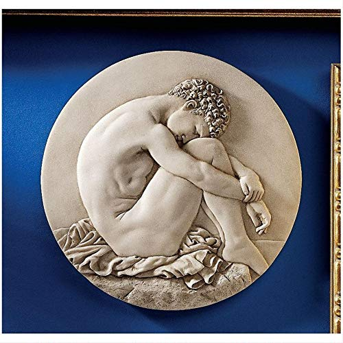 Design Toscano Young Man Beside the Sea Natural Bonded Marble Wall Roundel