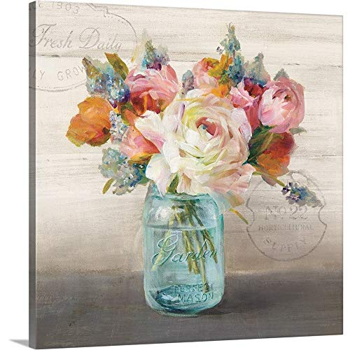 (French Cottage Bouquet II Canvas Wall Art Print, 16