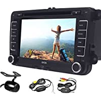 EinCar Double Din Android 6.0 Car DVD Player for VW 7 Inch Capacitive Touch Screen Car Stereo Radio Receiver with GPS Navigation Bluetooth WiFi AM/FM Radio/Remote/Canbus+Wireless Reversing Camera
