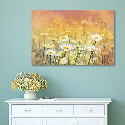 Watercolor Style Small White Flowers