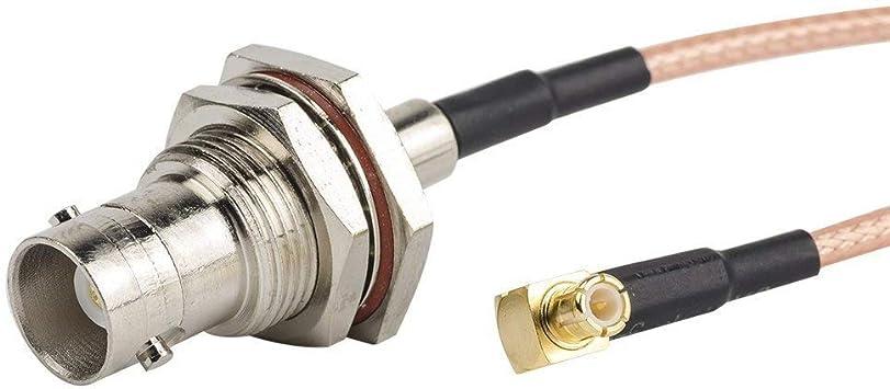 2pcs 6 inch/0.5FT/15 cm RF coaxial coaxial RG316 Cable adaptador Asamblea, BNC hembra a MCX macho ángulo recto conector para NooElec, SDR adaptador, ...