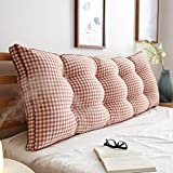 GAOYANG Bedside Cushion, Long Backrest Pillow, Waist and Neck Rest Pillows, Supports Home Reading and Bed Pillows, Removable Wash, 5 Colors (200cm) (Color : C, Size : 90CM)