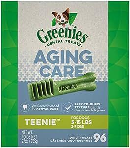 Amazon.com : GREENIES Aging Care TEENIE Natural Dog Dental