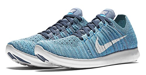 sale find great clearance great deals NIKE Women's Free RN Flyknit 2017 Running Shoe Ocean Fog/White-blue Glow-hyper Jade pHKDlOi