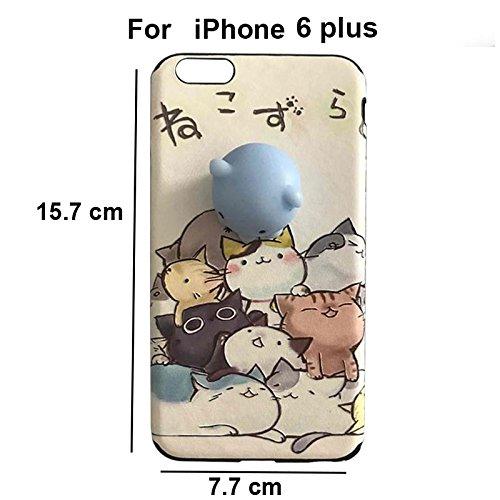 Pinzhi Pinzhi 3D Nizza Weiche Silikon Pappy Squishy Katze für iPhone 6 Plus 6s plus Case Octopus Telefon Fall Stil B