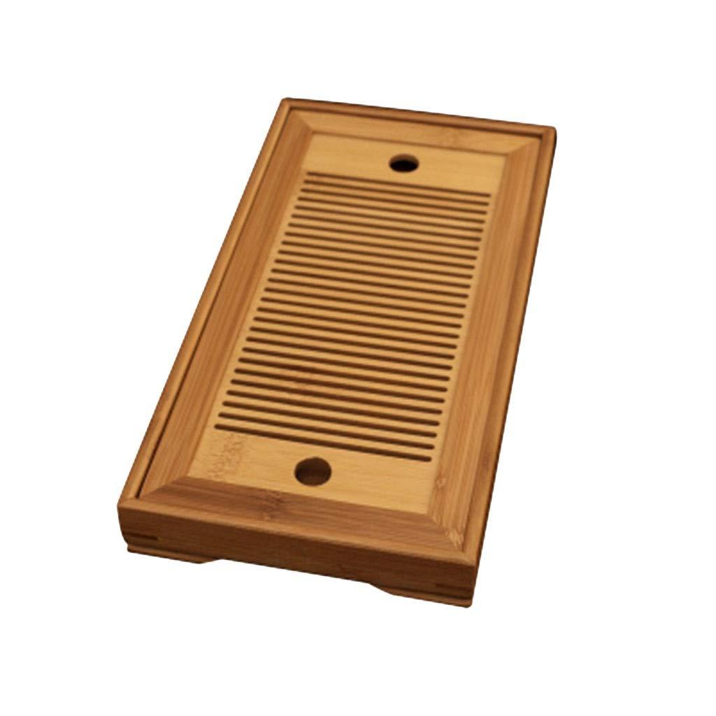 Kitchen Bamboo Tray Round Drain Tray Tea Tray