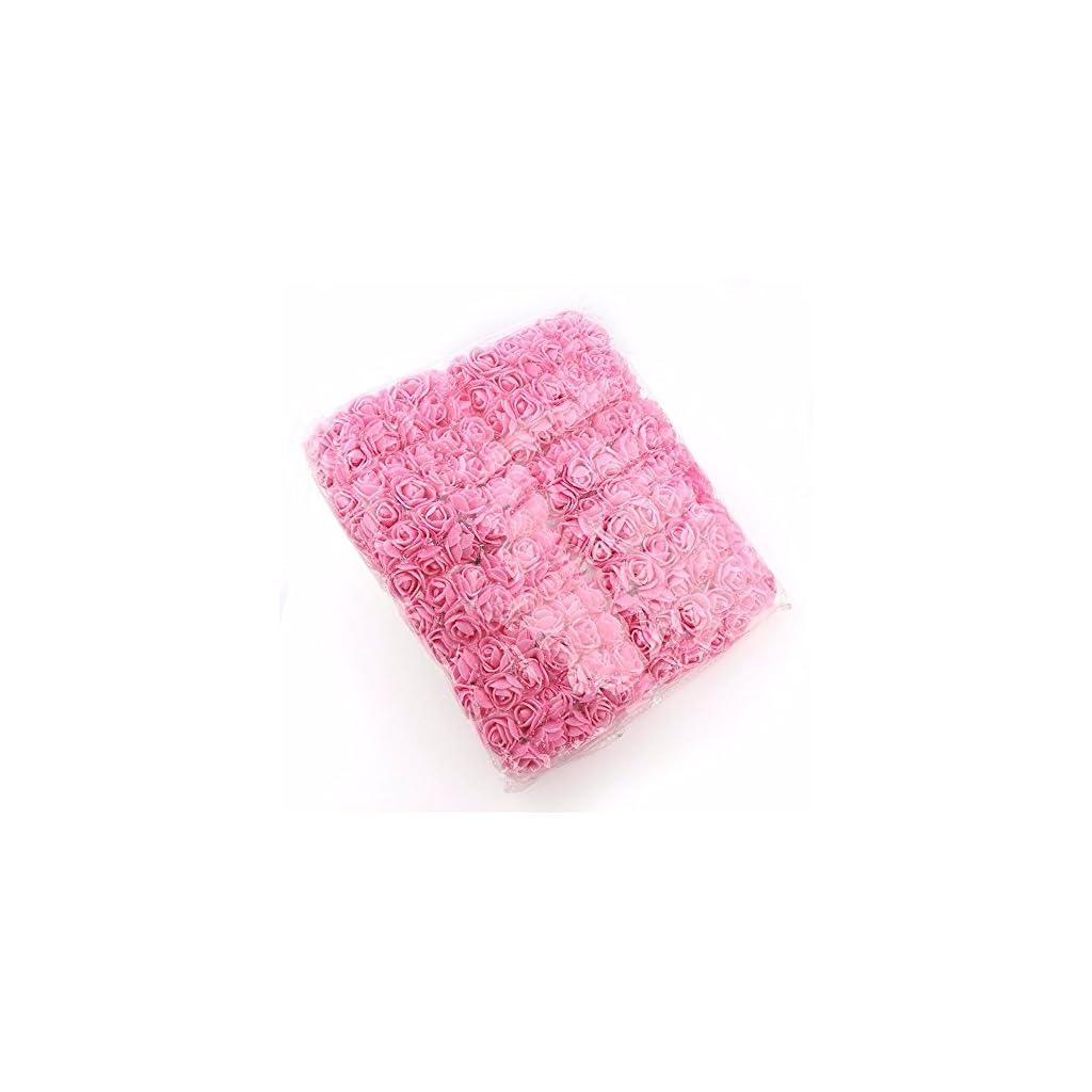 144pcs-2cm-Mini-Foam-Rose-Artificial-Flowers-for-Home-Wedding-Decoration-DIY-Pompom-Wreath-Decorative-Bridal-Flower-Fake-Flower-Pink