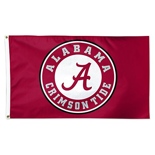 Wincraft Alabama Crimson Tide Circle Logo Roll Tide NCAA Football 3 x 5 Foot Flag Alabama Crimson Tide Ncaa Football
