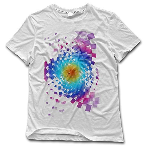Aiguan Whirlwind Graphic Mens Short Sleeve Cozy T-Shirt White 4X ()
