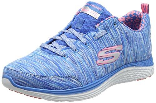Skechers Women's ValerisFull Force Trainers, Schwarz/Pink (Bkwp) Blue (Nvhp)