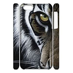 LaiMc Custom Hard Plastic Back 3D Case Cover for iPhone 6 (4.5) with Unique Design Tiger