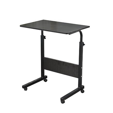 DlandHome 60 * 40 cm Ajustable Mesa de Ordenador Portatil con Ruedas Sofá Mesa Mesas de