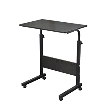 Soges Table Pour Ordinateur Portable Roulettes Support 60 X 40cm