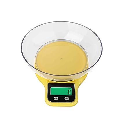 Elenxs 5kg / 1g eléctrico Cocina Escala LCD Escala del alimento pesaje digital herramienta de balance