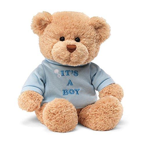GUND It's a Boy T-Shirt Teddy Bear Stuffed Animal Plush, Blue, 12