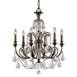 Crystorama 5116-EB-CL-MWP Crystal Accents Six Light Chandeliers from Regis collection in Bronze/Darkfinish, Review