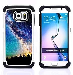 - Orions Belt Beautiful Stars Space/ H??brido 3in1 Deluxe Impreso duro Soft Alto Impacto caja de la armadura Defender - SHIMIN CAO - For Samsung Galaxy S6 G9200