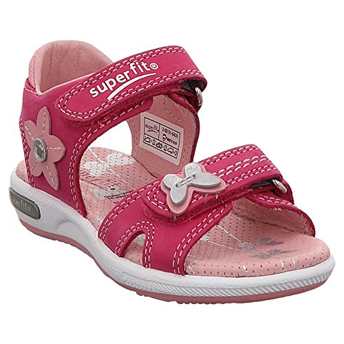 Superfit Kinder (Mädchen) Klett-Sandale Emily Pink Rauleder 28