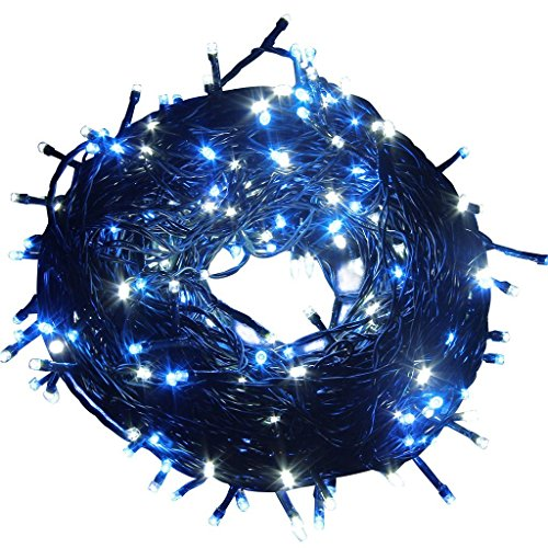 100M 328FT 500 White Blue LED String Fairy Lights Garden Tree Decor Outdoor Xmas Party Lamp. Ship from usa