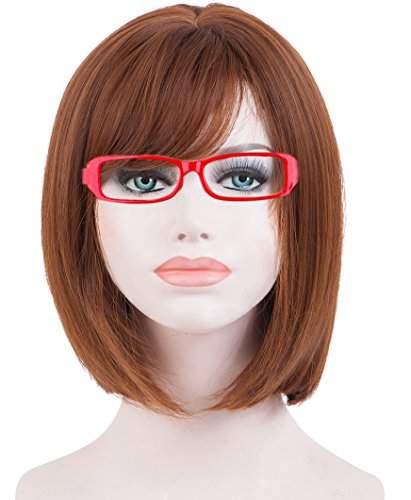 Spretty Women's Short Brown Color Bob Style wig for Cosplay Party Daily Dress - Legally Blonde Costume Party