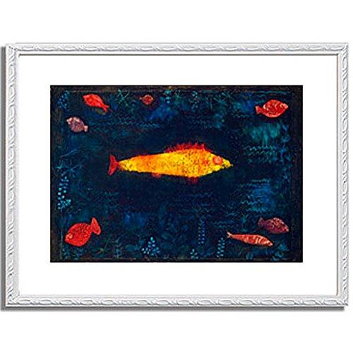 パウルクレー 「金色の魚 The Golden Fish. 1925 」 インテリア アート 絵画 壁掛け アートポスターフレーム:装飾(白) サイズ:M(306mm X 397mm) B00PB7EIN2 2.M (306mm X 397mm)|6.フレーム:装飾(白) 6.フレーム:装飾(白) 2.M (306mm X 397mm)