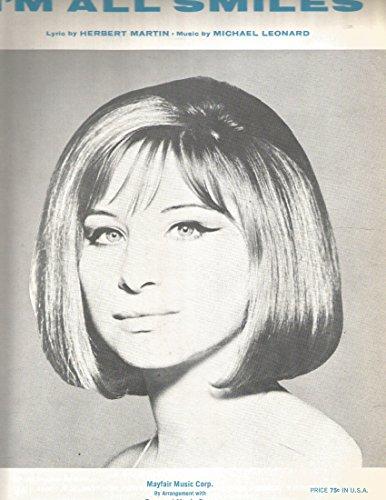 I'm All Smiles Barbra Streisand Sheet Music Mayfair 1964 ()