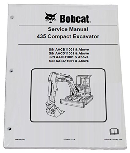 Bobcat 435 Compact Excavator Repair Workshop Service Manual - Part Number # 6986749