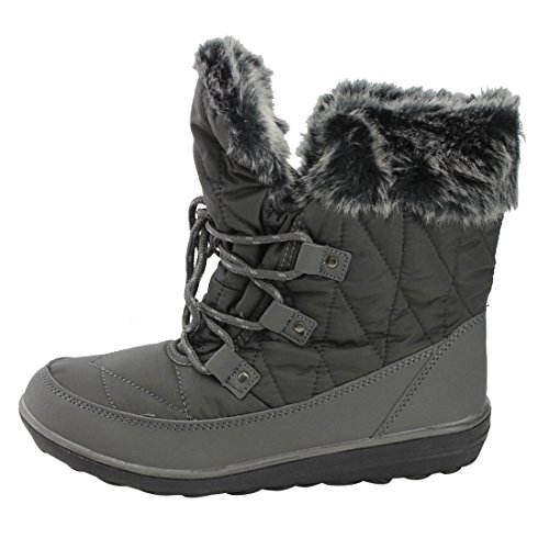 Refresh FP22 Womens Lace Up Outdoor Winter Snow Ankle Booties Grey I4cWWu91x