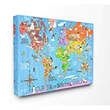 baby van gogh world of colors - Stupell Industries Our Big Beautiful World Map Canvas Wall Art, 24x30, Design By Artist Marley Ungaro