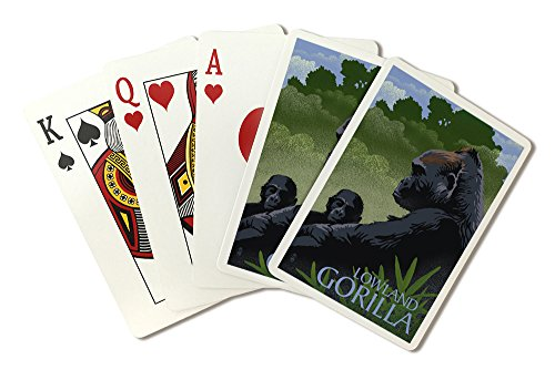 - Lowland Gorilla - Lithograph Series (Playing Card Deck - 52 Card Poker Size with Jokers)
