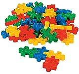 "Fun Express Puzzle-Shaped Block Set (50 Pcs) 2 1/4"" X 1 3/8"". Plastic."