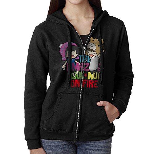 Dan And Phil Comics Png Zipper Sweatshirts For Women S Black