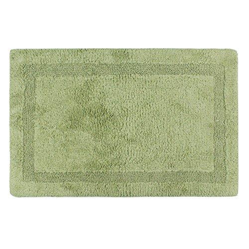 Hi Space Non-slip Cotton Washable Bathroom Rug runner Shag Shower Mat Machine-washable Bath mats with Water Absorbent Soft Microfibers,20by30 Inch,dark (Comfort Shag Mint Green Rug)