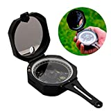 ezyoutdoor Hiking Compass Field Military Marching Army Outdoor Camping Survival Climbing Biking Metal Sighting Compass with Folding Metal Lid