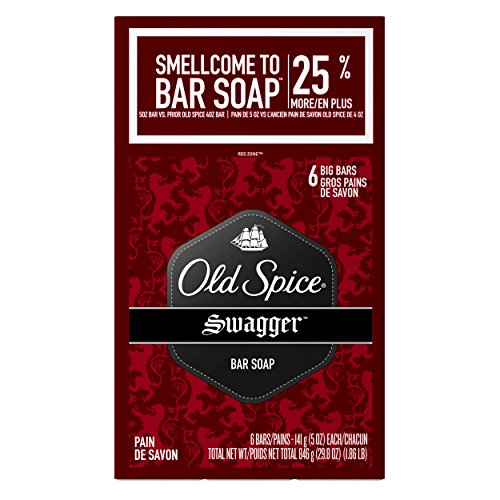 Old Spice Red Zone Swagger Scent Bar Soap Pack Of 6-29.8 Oz