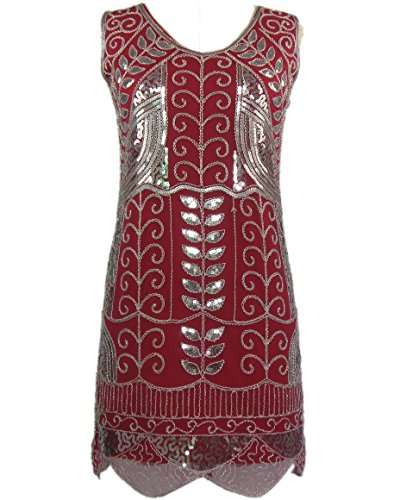 Plus Size Roaring 20's Glamour Flapper Gatsby Inspired Fashion Costumes Attire