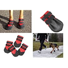 Ultra Paws Rugged Dog Boot, Red, Small