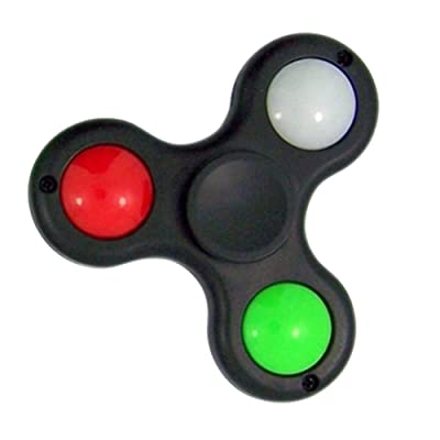 WeGlow International The Light up Comet EDC, ADHD Stress and Anxiety Reducer Tri Fidget Spinner-Black: Toys & Games
