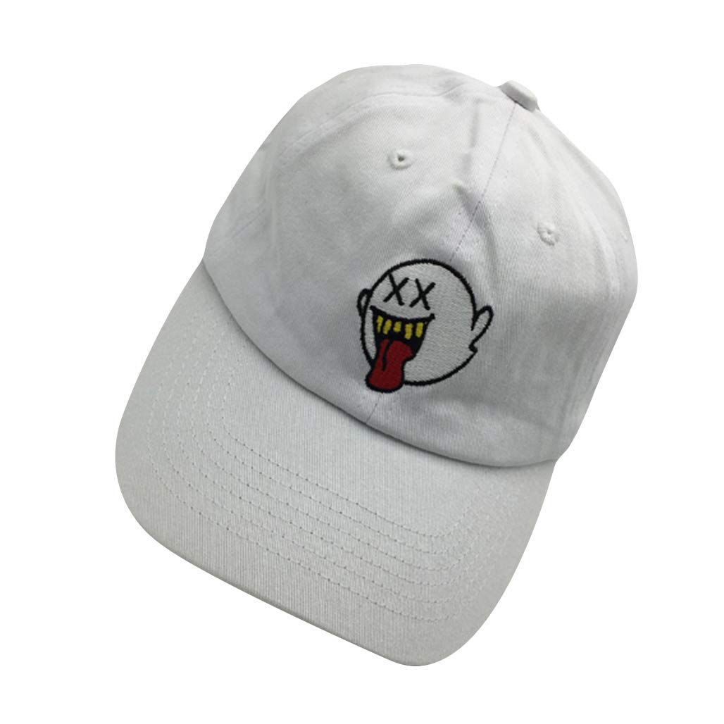 75ef785d501 zhidan wei Distressed Boo Mario Ghost Baseball Cap 3D Embroidery Dad ...
