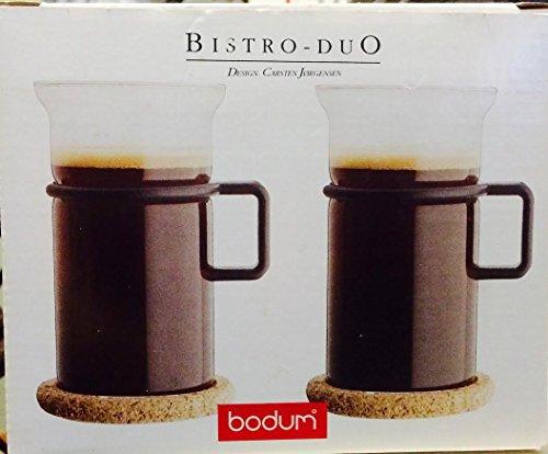 Bodum Bistro-Duo (Black) (Coasters Bodum Glass)