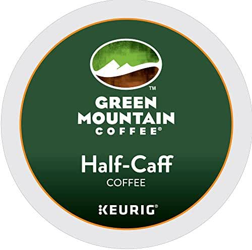 Green Mountain Coffee Half-Caff Keurig Single-Serve K-Cup Pods, Medium Roast Coffee, 72 Count (6 boxes of 12 Pods)