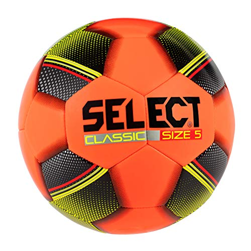 Select Classic Soccer Ball, Orange, Size 4