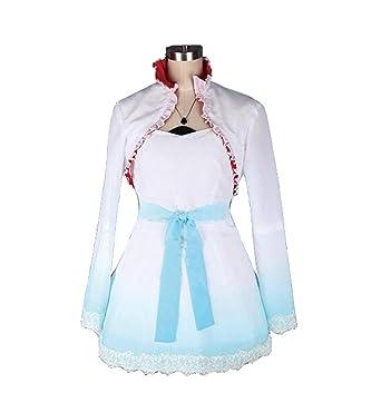 a35e196d33e0e Amazon.com: DOUJIONG RWBY Weiss Schnee Cosplay Costume Womens ...
