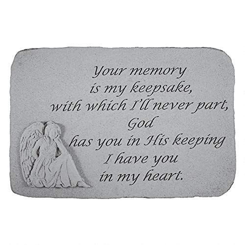 Design Toscano Your Memory is My Keepsake: Angel Cast Stone Memorial Garden Marker (Garden Keepsake)