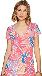 Lilly Pulitzer Women\'s Michele Top, Multisb :Playa Hermosa Reduced, XL