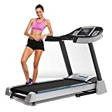 Professional Folding Electric Treadmill, Easy Assembly Black Motorized Power Fitness Running Machin for Gym Office (US Stock)