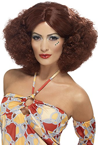Smiffy's Women's 70's Auburn Afro Wig with Centre Part, One Size, 5020570432396 - 70s Afro Wigs