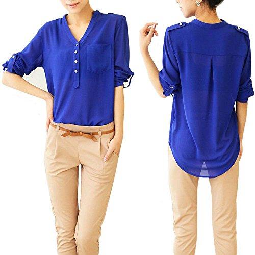 KOINECO - Camisas - para mujer Azul