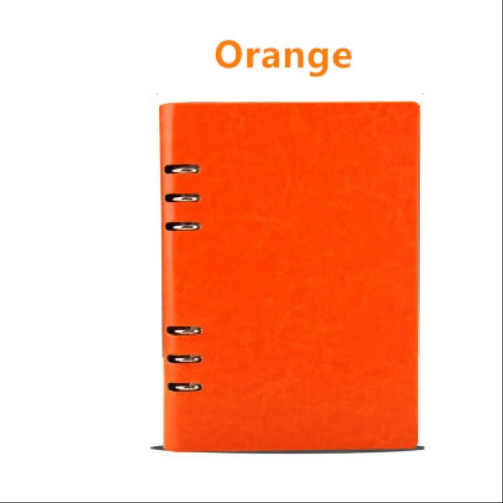 QWSAE notebook Cuadernos Diario Diario Diario Semanal Agenda Mensual Planificador A5 A6 Oficina Escolar Suministros Organizador Estacionario Plan Pack Regalo A6 estilo 2 naranja: Amazon.es: Oficina y papelería