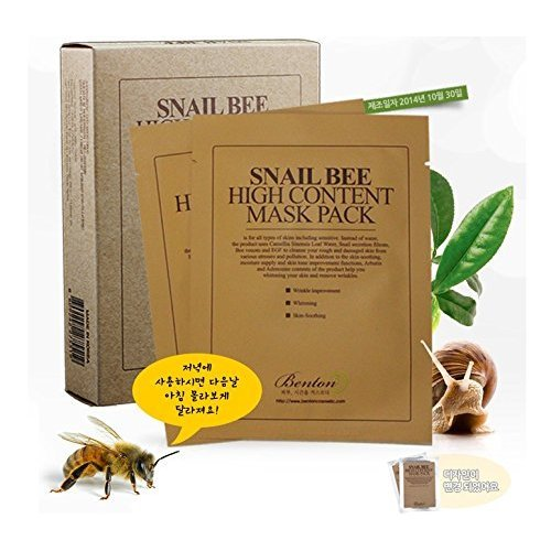 Benton Benton Snail Bee High Content Sheet Mask Pack, 10 pieces